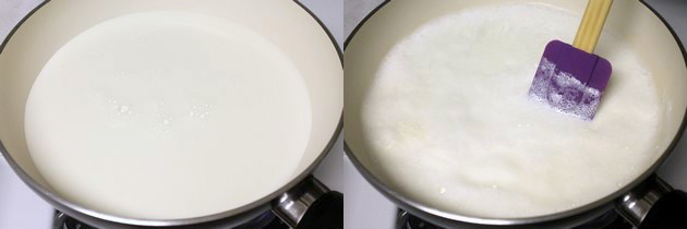 milk is simmering