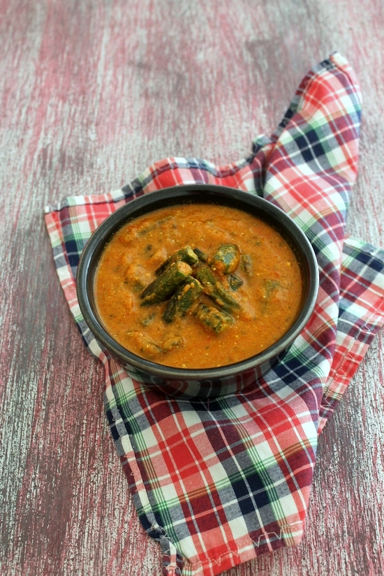 Bhindi masala gravy recipe   Punjabi bhindi curry recipe