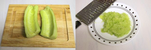 peeled and grated cucumber