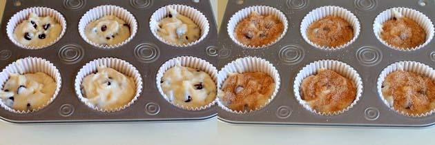 Eggless chocolate chip muffins recipe | Vegan choco chip muffins