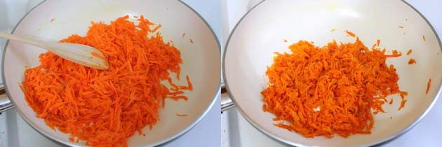 cooking grated carrot