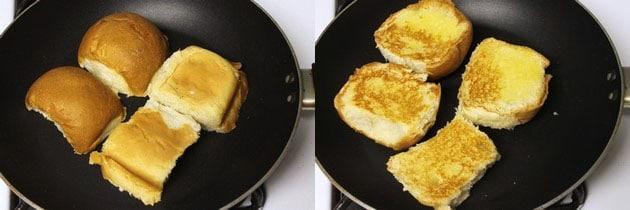 toast pav bhaji buns
