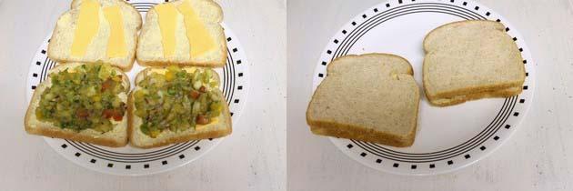 Veg cheese toast sandwich recipe | Veg cheese sandwich recipe