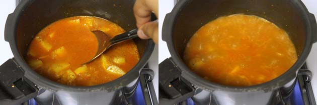 how to cook aloo baingan ki sabzi in pressure cooker