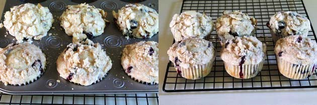 Eggless Blueberry Muffins Recipe | Easy streusel muffins recipe