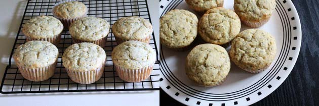 Eggless Lemon Poppy seed muffins recipe | Lemon muffins