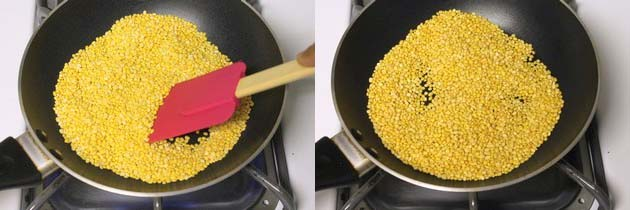 dry roasting moong dal