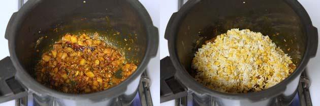 adding soaked dal-rice