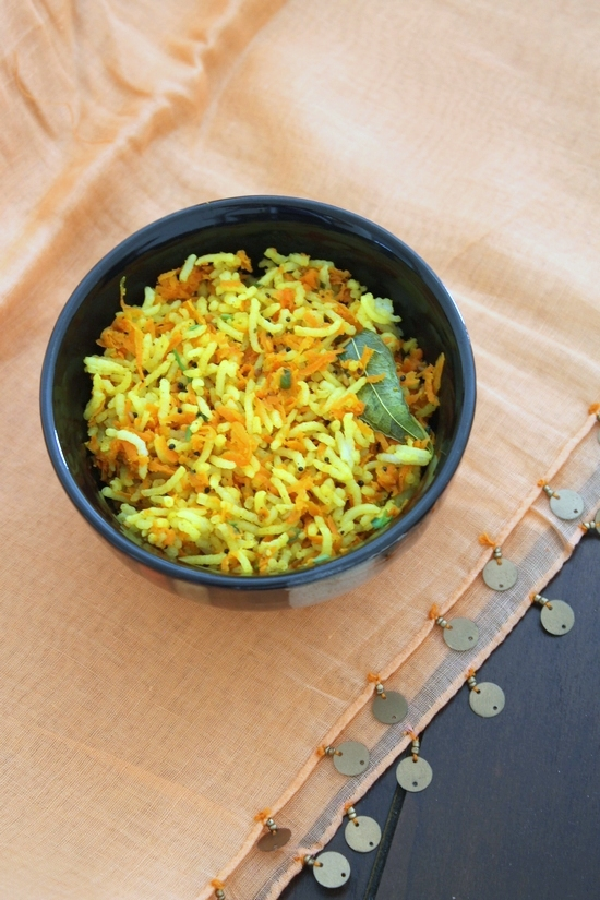 Carrot rice recipe | How to make carrot rice