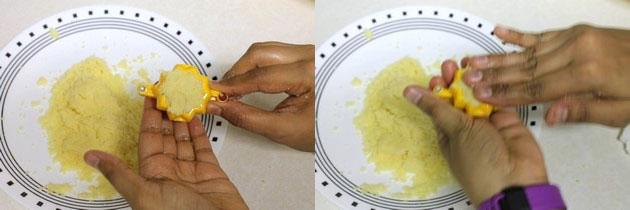 sealing bottom of the modak