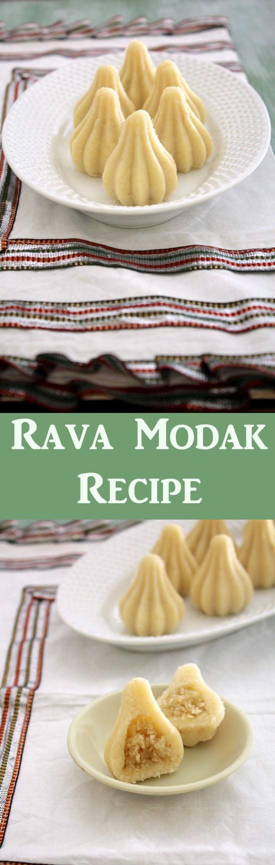 Rava modak recipe for Ganesh Chaturthi | Semolina modak
