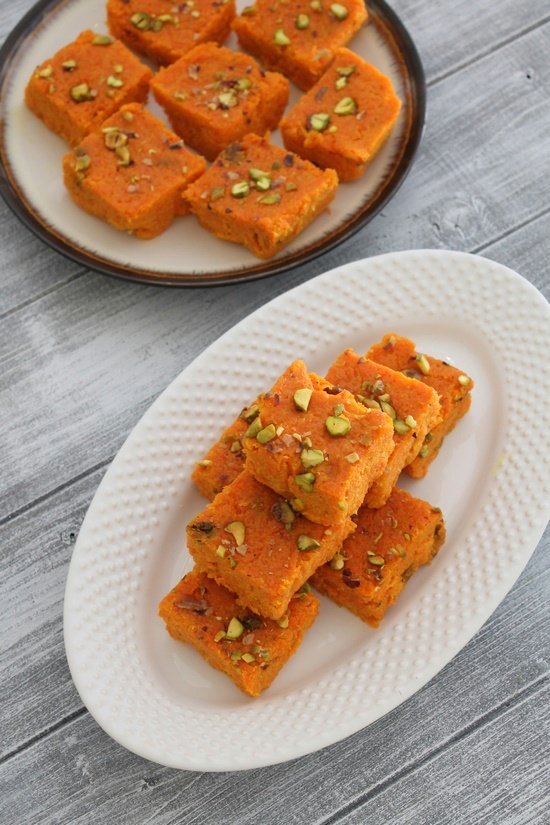 how to make gajar ki barfi