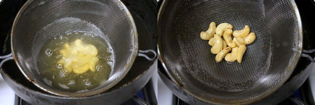 frying cashew nuts