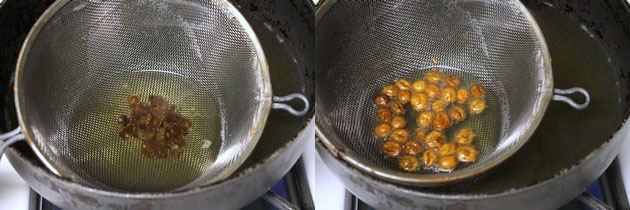 frying raisins