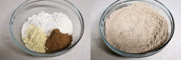 dry flour mixture for chocolate nankhatai