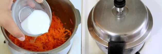 Gajar ka halwa in pressure cooker | Quick gajar ka halwa recipe