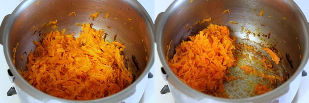 pressure cooked carrots with milk