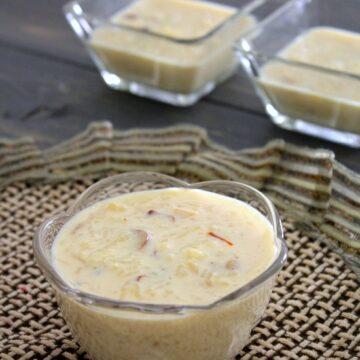 Kheer with condensed milk   Rice kheer recipe with condensed milk