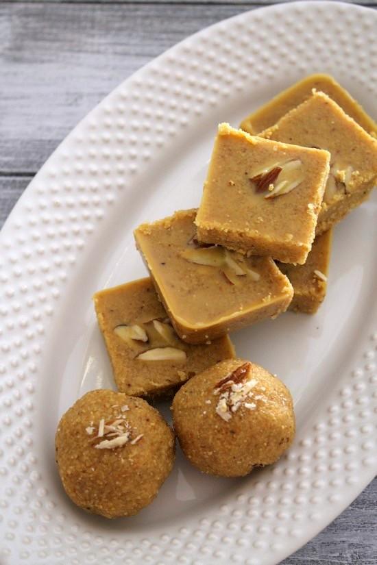 Magaj recipe (Gujarati magas recipe) Besan burfi recipe