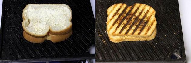 Corn and capsicum sandwich recipe   Grilled capsicum corn sandwich