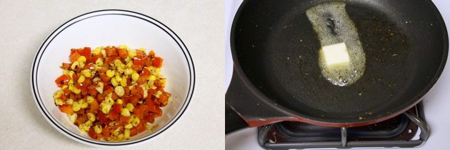 Corn and capsicum sandwich recipe | Grilled capsicum corn sandwich