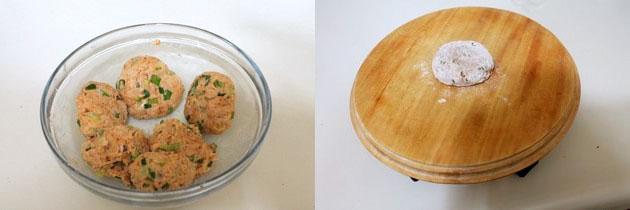 making small individual dough balls