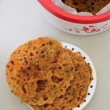 Spring onion paratha recipe | Potato green onion paratha recipe
