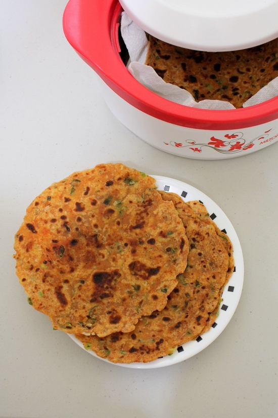 Spring onion paratha recipe | Potato green onion paratha recipe