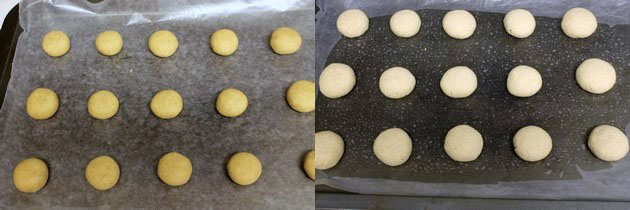 shaping and baking wheat flour nankhatai