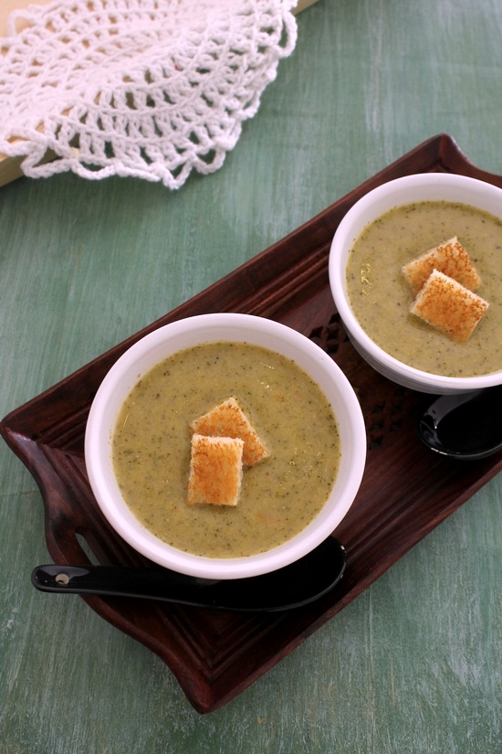 Broccoli soup recipe | Healthy broccoli soup | How to make broccoli soup