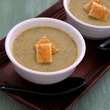 Broccoli soup recipe | Healthy broccoli soup | How to make broccoli soup