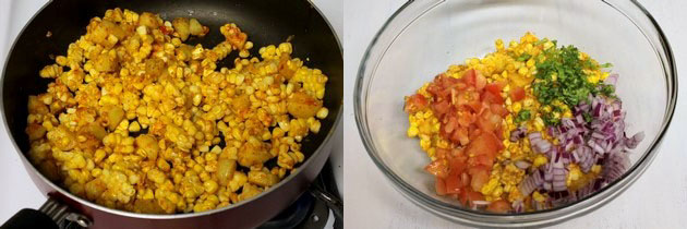 Corn chaat recipe | Corn bhel recipe | How to make sweet corn chaat