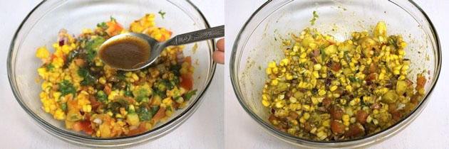 Corn chaat recipe | Corn bhel recipe | How to make sweet corn chaat