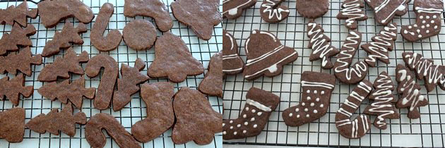 Eggless chocolate sugar cookies recipe | Chocolate cutout sugar cookies