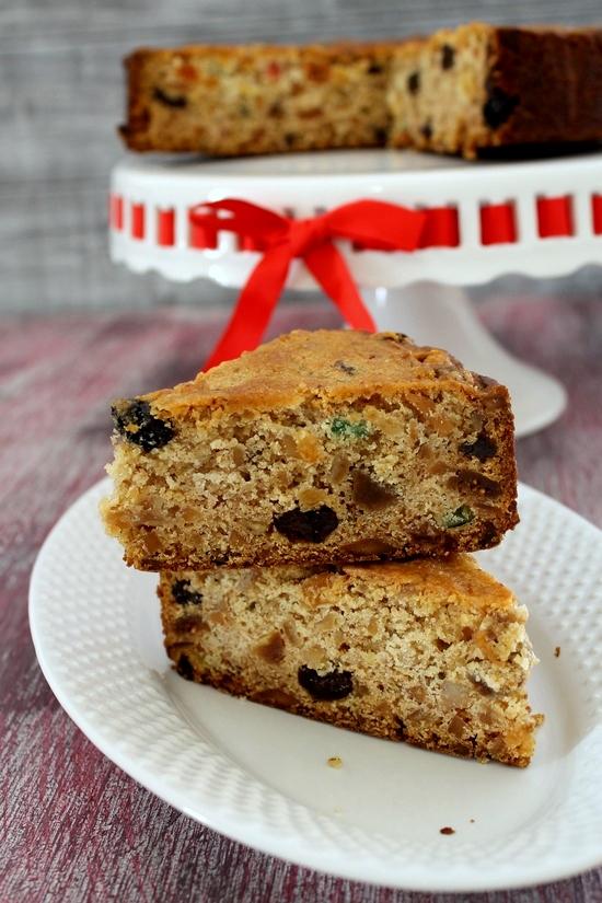 Eggless Fruit Cake Images : Eggless fruit cake recipe (How to make eggless christmas ...