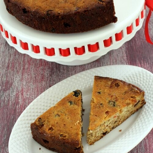 Eggless fruit cake recipe | How to make eggless christmas fruit cake
