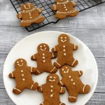 Eggless gingerbread men cookies recipe | Christmas cookies