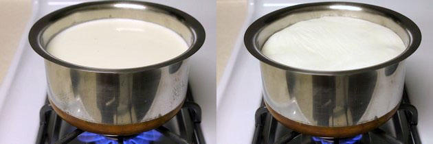 boiling the milk