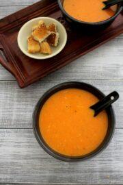 Tomato soup recipe, restaurant style | Homemade tomato soup