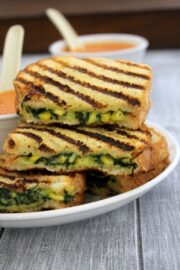 Spinach corn sandwich recipe | Grilled corn spinach sandwich