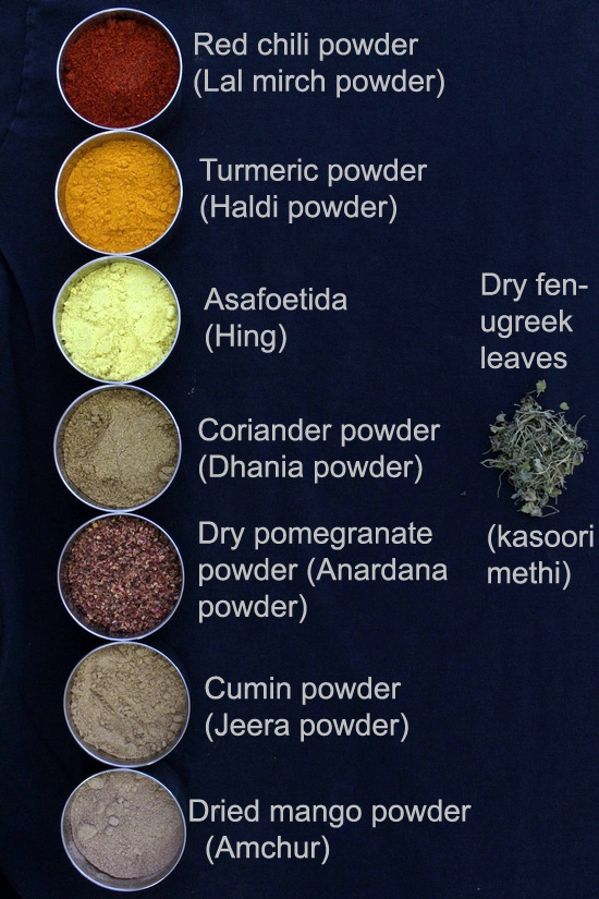 List of Spices in English, Hindi and other languages