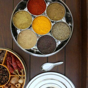 Indian spice box | Masala dabba | Spice to include in masala dabba