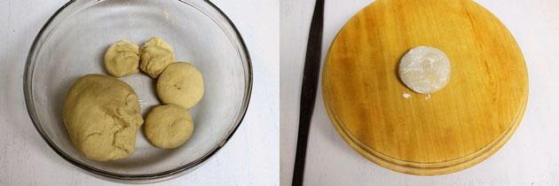 dough divided into small balls