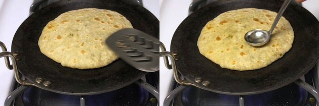 cooking another side of paratha