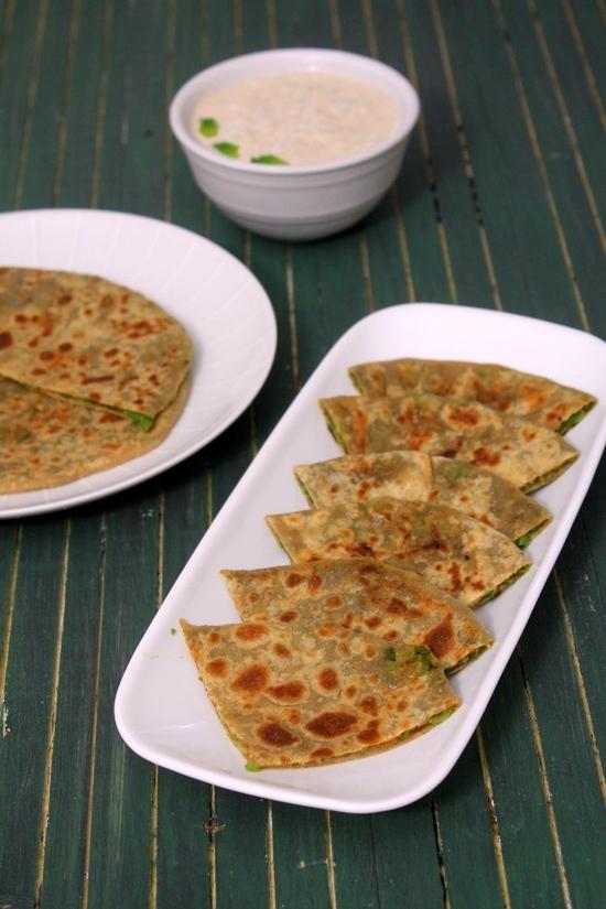 matar paratha recipe (green peas paratha)