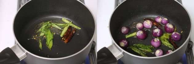 adding green chilies and pearl onions