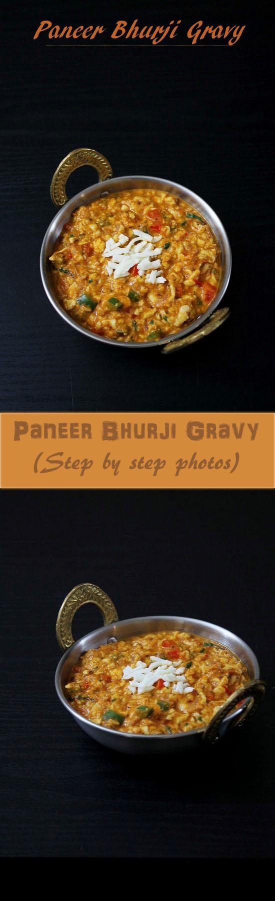 Paneer bhurji gravy recipe, Restaurant style