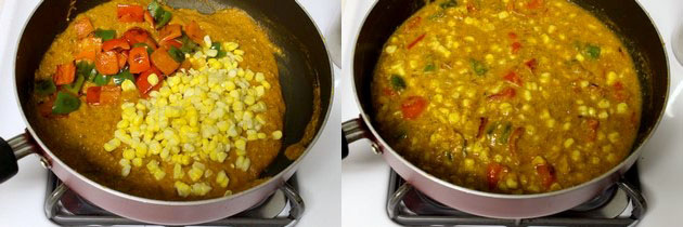 Corn capsicum masala recipe | How to make corn capsicum masala
