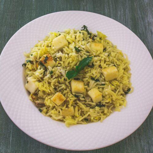 BEST Paneer Pulao Recipe (Paneer Rice)