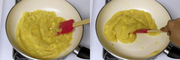 cooking till halwa consistency
